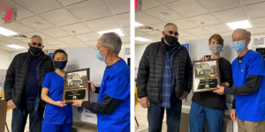 Residents receiving recognition of completing their program